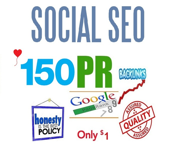 150 HIGH PR and TOP SOCIAL MEDIA SEO SERVICE for INCREASING WEBSITE RANKING on GOOGLE
