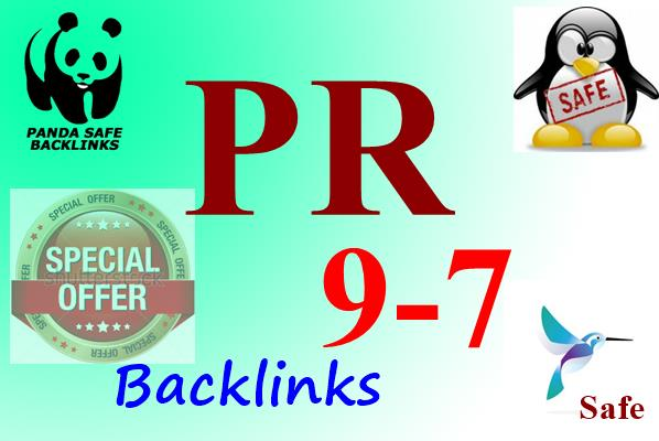 Promote Your Website With 20 PR 9-7 Backlinks