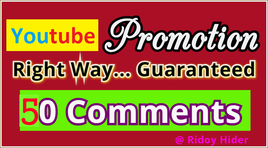 *** Mini Offer- Real 50 Youtube Video Comments from USA, UK users.