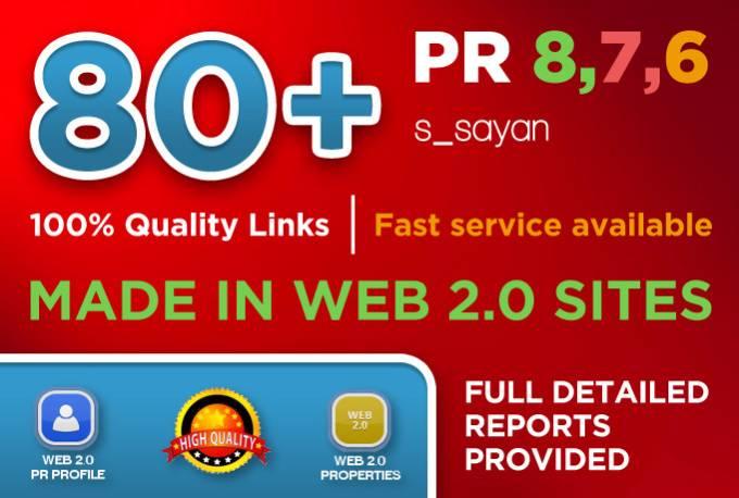 create 80 Real High Pr BACKLINKS,  Dofollow PR8,  PR9,  Authority,  Anchor,  Seo