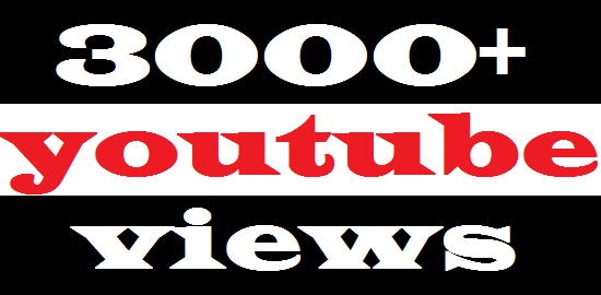 3000++ HQ High Retention Real Human You Tube Viewers Desktop Watch  100 lik es