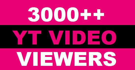 3000++ HQ High Retention Real Human Yu+Tu Viewers 100 lik es