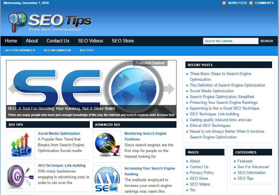 SEO Tips Blog script