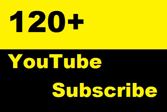 Send 120 Permanent YouTube Subscribers