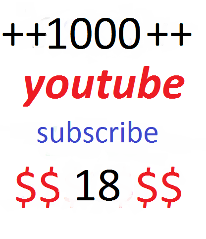 Provide you 1000+ YouTube Video subscribe  very fast delivery