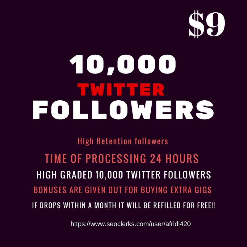 10,000 Twitter audience fastest