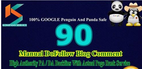Provide 90 DoFollow BackLinks Manually on High Authority Domain