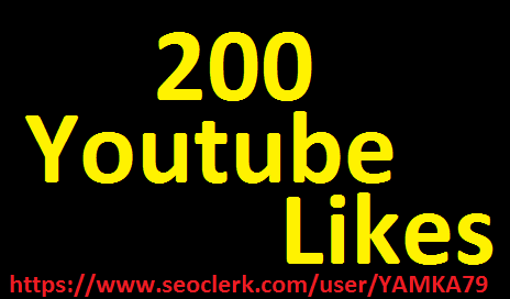 200 high quality youtube likes or 7500   youtube views fast delivery