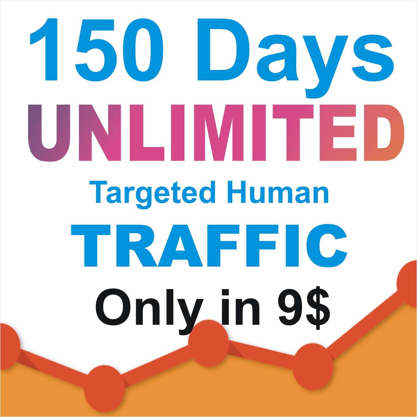 150 days UNLIMITED Targeted REAL HUMAN TRAFFIC