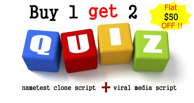 Buy nametest clone script, heroquizz clone script, meaww script ,9 gag clone script- BUY 1 GET 2