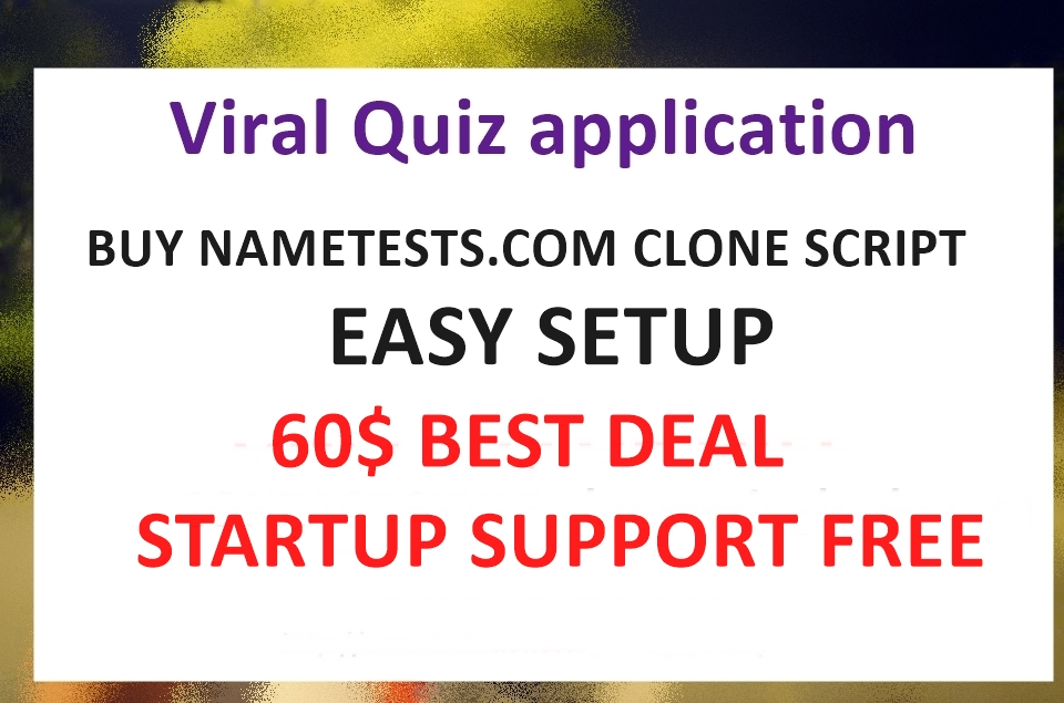 NeW yEAR sALE - Grab Your Viral quiz Nametests clone website to earn huge money