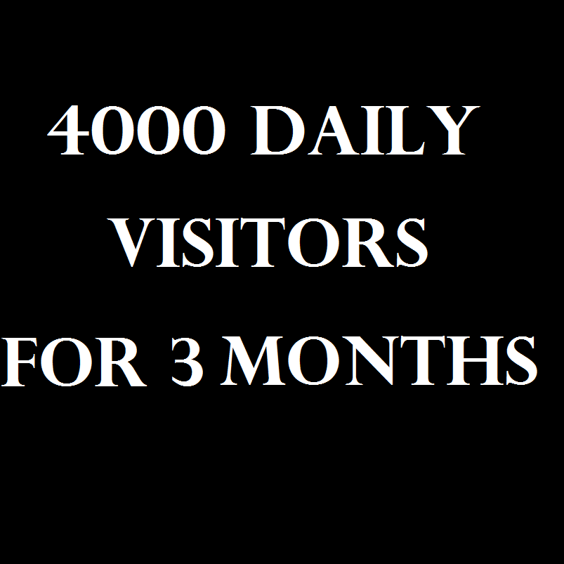 360,000 + visitors for 3 months