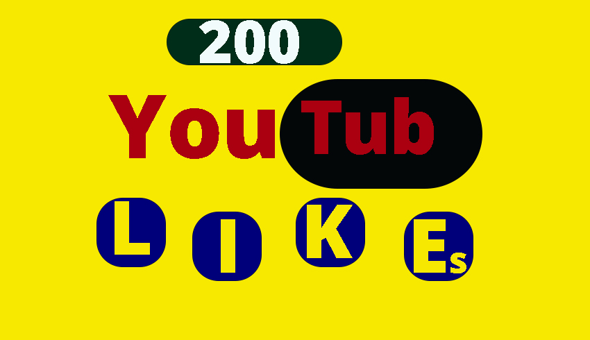 Provide you 200+ YT likes only for