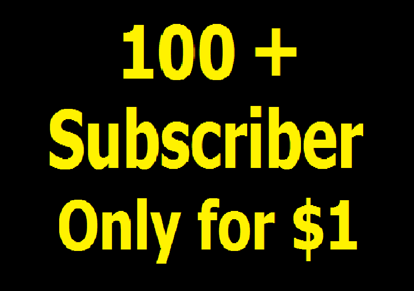 Super fast 100+ Real YouTube Channel Subscriber with bonus