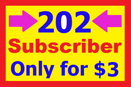 Get 202+ Real YouTube Subcribers or 404+ Likes