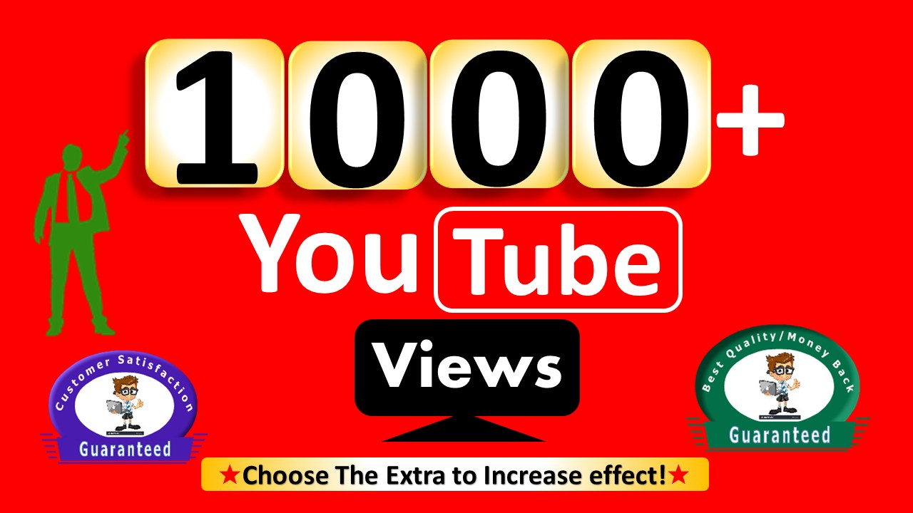 Instant Start 1000+ Video Views, Non Drop & 100 Likes