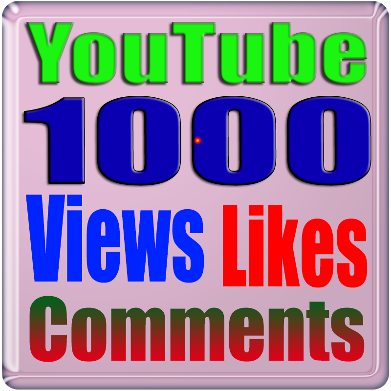 1000+ Views & 5 Custom Comments & 50+ Likes YouTube Safe & Non Drop Only