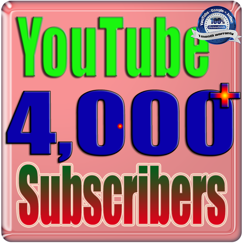 We Will Add 4000+ YouTube Real Subscribers Safe Fast and Non Drop