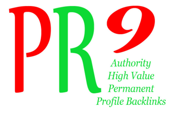 Create manually 30 High PR Authority profile Backlinks
