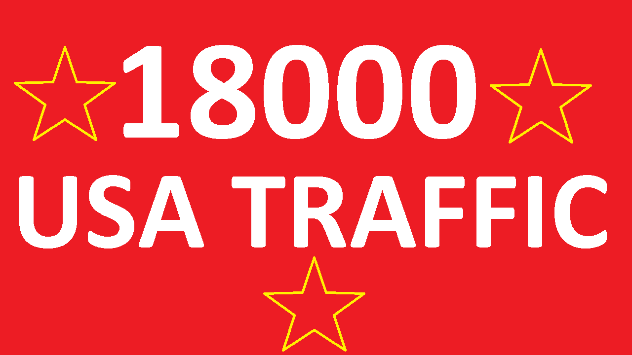 deliver 18000 safe usa web traffic real usa traffic