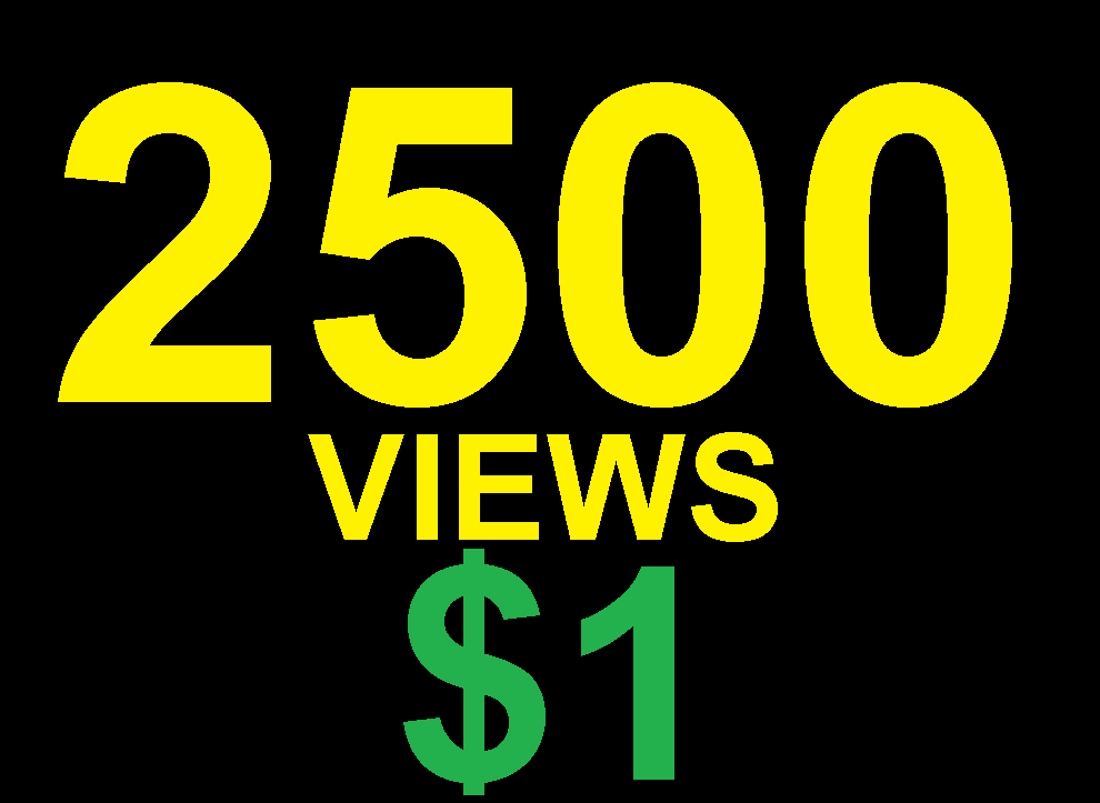 FAST 2500 YOUTUBE VIEWS