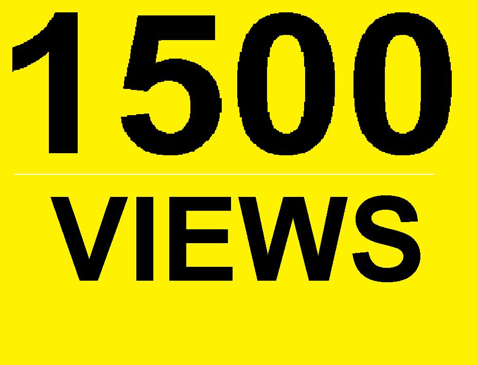 1500 FULL High Retention Non Drop Youtube Views HR