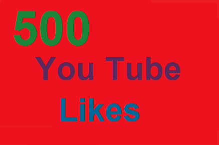 get 500 Real Active Human Verified YouTube Video Likes
