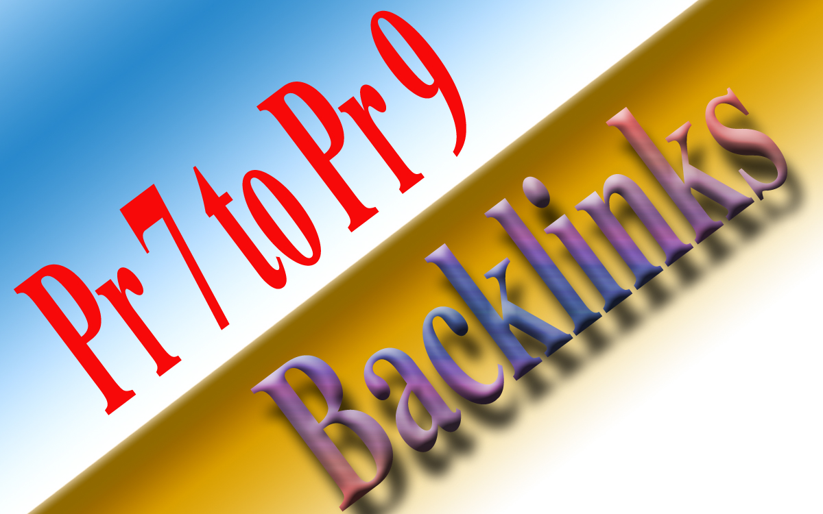 give  you 50 pr 7 to pr 9 backlinks