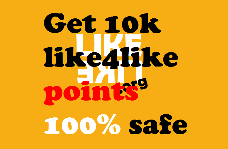 I wil give you 10,000 like4like points fast delivary