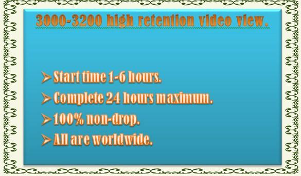 3000-3200 Non Drop You Tube video view