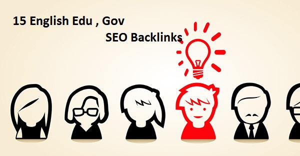 create 15 English Edu,  Gov SEO Backlinks