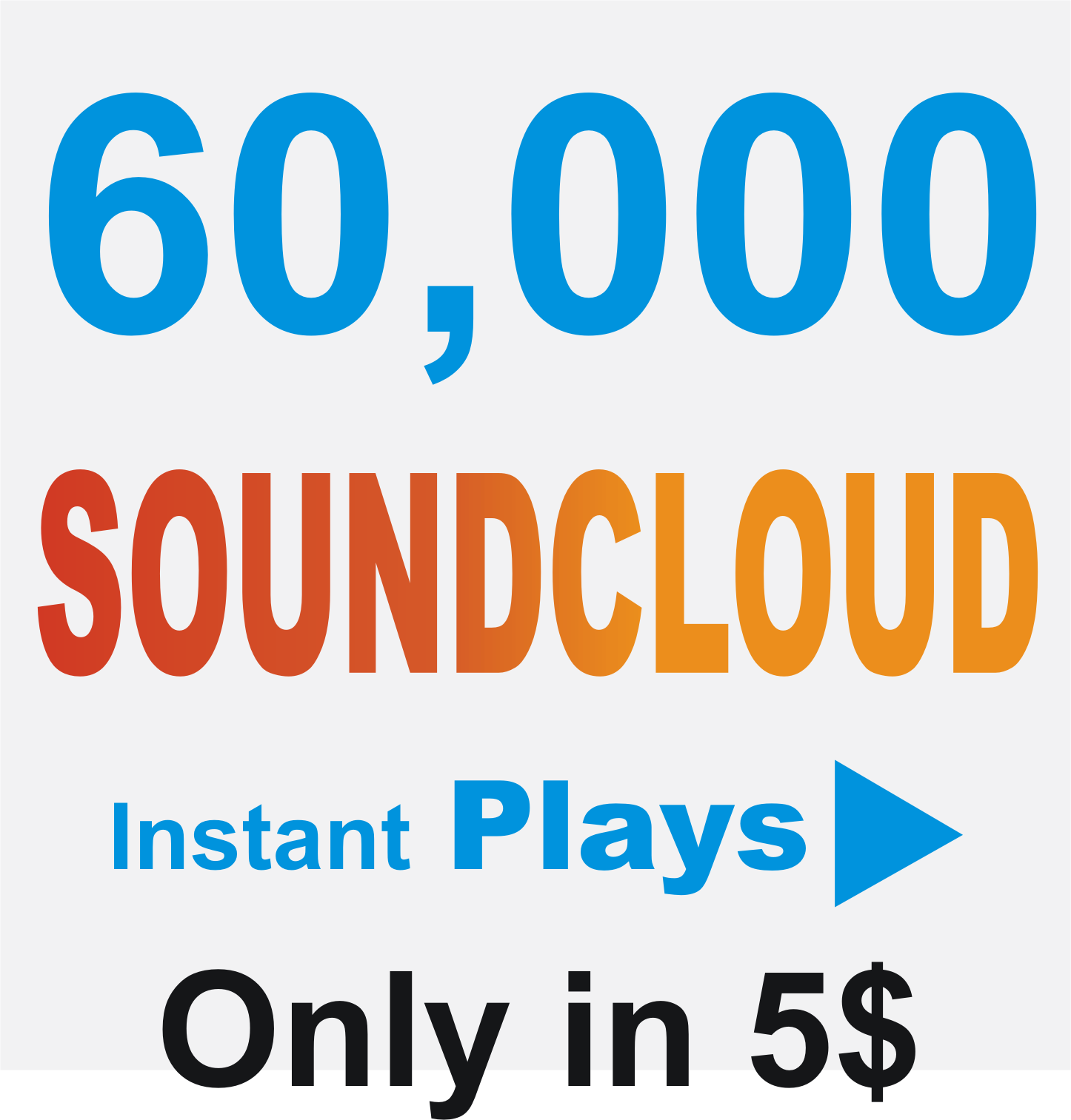 60K Soundcloud Plays Add to your track (Splitable)