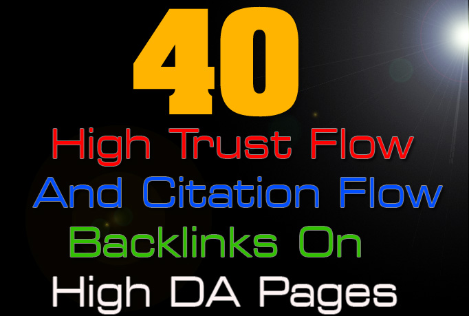 Buy 2 Get 1 Free  40 high trust flow and citation flow backlinks
