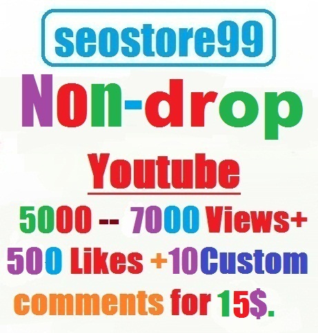 YouTube HR 5000 --- 7000 views+500 Likes+10 custom comments within 48--72 hours