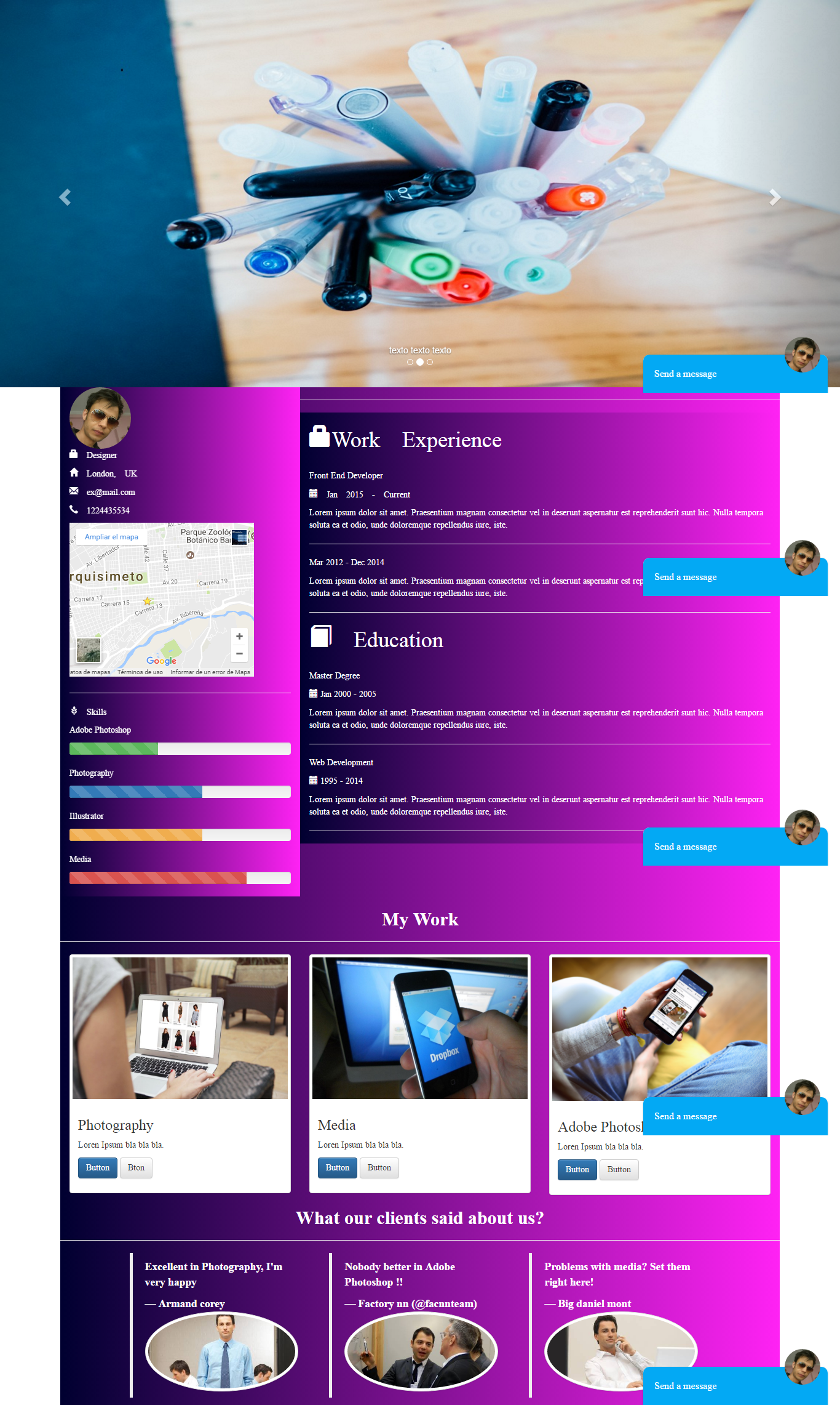 Template designer Theme