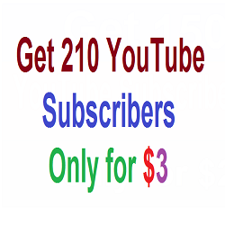Get real 210 YouTube Subscribers only