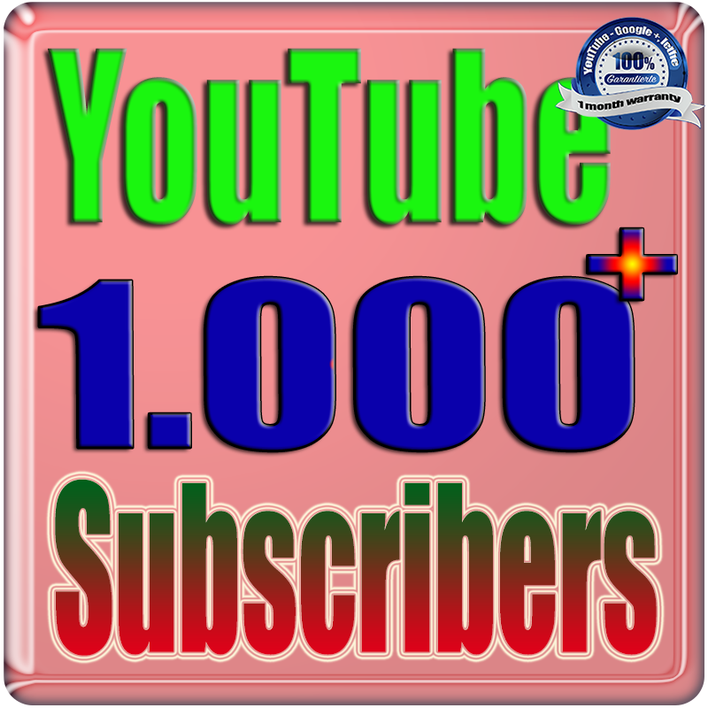 We Will Add 1000+  Real Subscribers Youtub Safe and Non Drop Speed 2 Times Faster