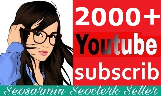 Instant start 2,000+ youtube subs'criber Non Drop Guaranteed and safe Just