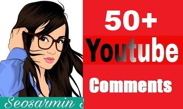 Safe 50+ You- Tube custom comments Non Drop Guaranteed and real profile Just