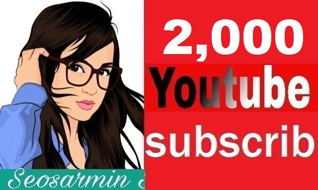 Safe 2,000+ Youtube Subs-criber Non Drop Guaranteed and real profile Just