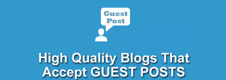 List Of 50 Quality Sites For Guest Blogging Opportunities in your Niche