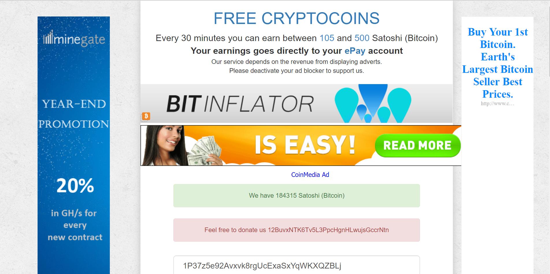 Make you bitcoin faucet site