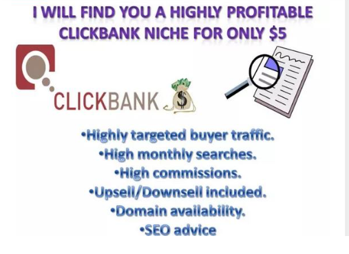 ClickBank Keyword research for your product niche