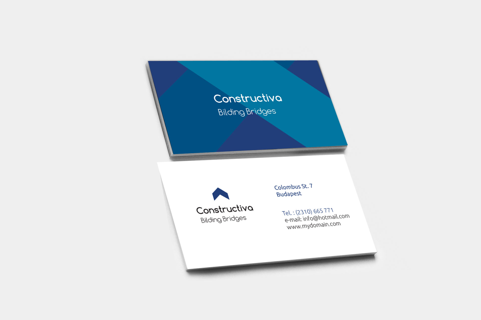 Design a professional business card Two Drafts