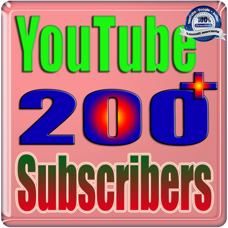 Add for You 200+ Real Subscribers and 100+ Likes YouTube Safe & Non Drop
