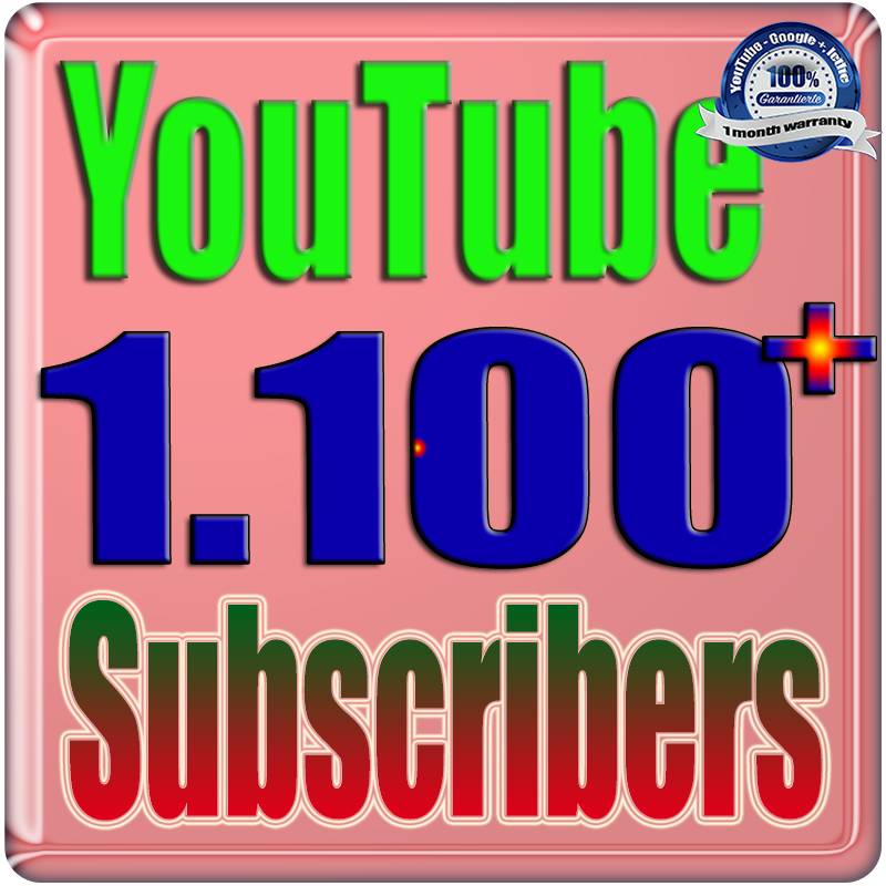We Will Add 1100+ Real Subscribers You;Tube Safe Fast and Non Drop Very Cheap