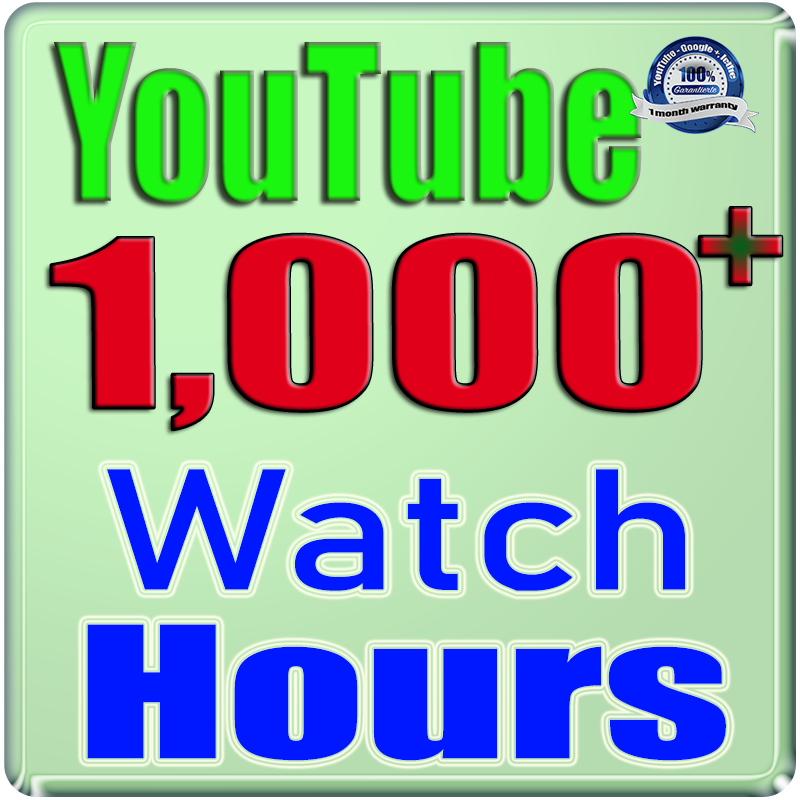 We Will Add 1000+ YouTube Watch Hours and Watch Times For Your Video Safe