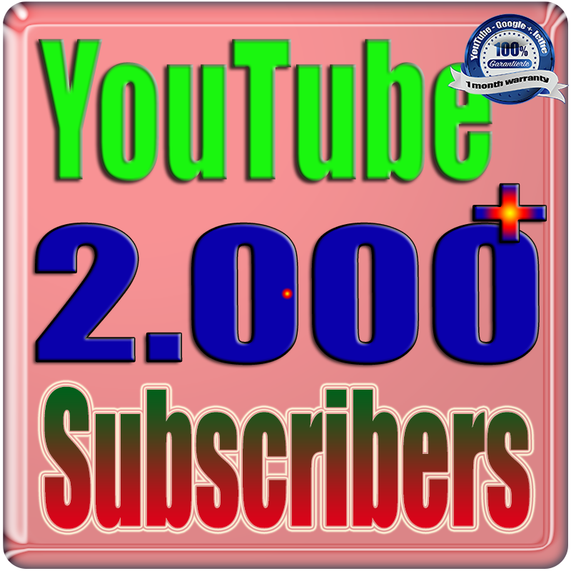 We Will Add 2000+ YouTube Subscribers or Likes or Views Real Safe & Non Drop and Fast