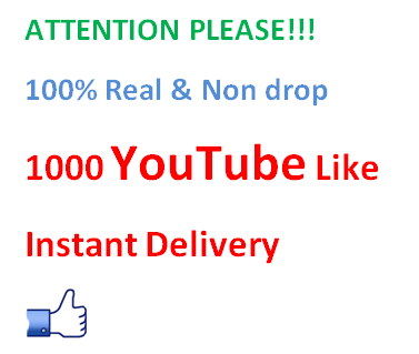 1000 youtube Real likes Delivery Within 24 hour's