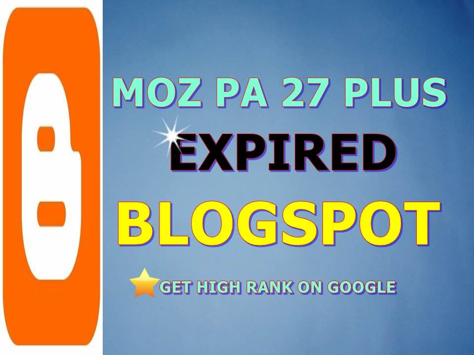 Provide 25 Expired Blogspot PA 28